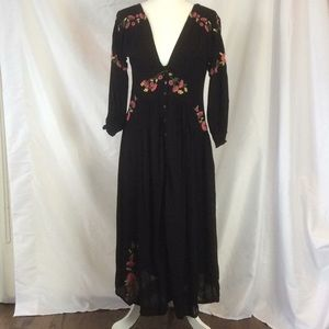 Black embroidered Free People Dress size S